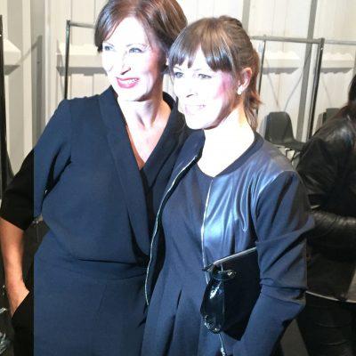 Designerin Eva Lutz mit Anneke Kim Sarnau