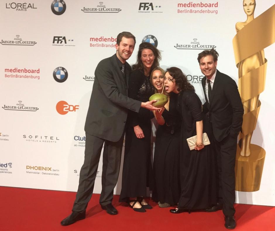Lola 2017 - Corinna Bergmann mit Regisseur Dominik Balkow und den Kollegen Nadine Scheidecker, Robin Czerny und Daniela Trittner