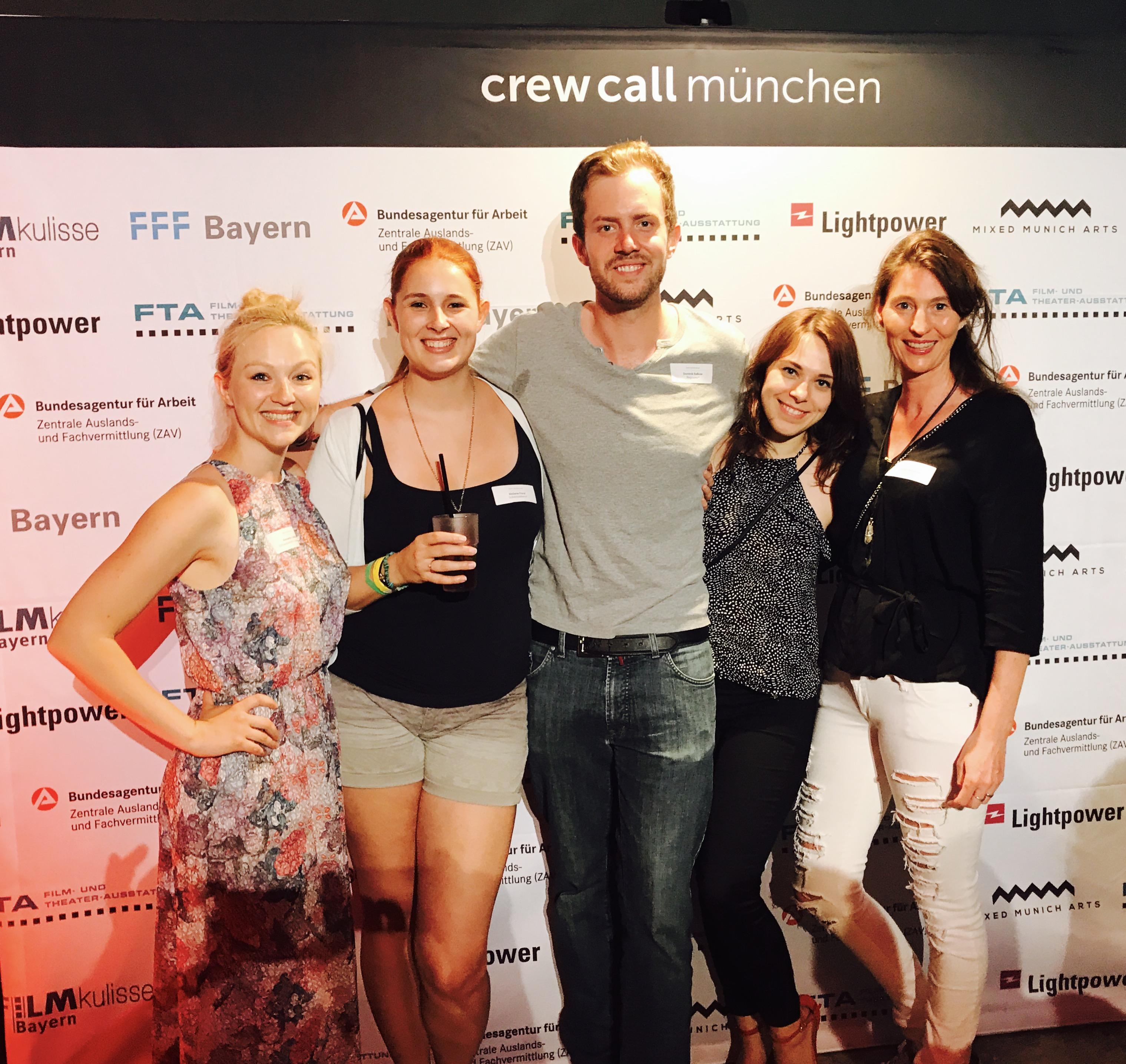 Crew Call 2017 mit Alexandra Schiller, Melanie Fürst, Dominik Balkow und Nadine Scheidecker und Corinna Bergmann