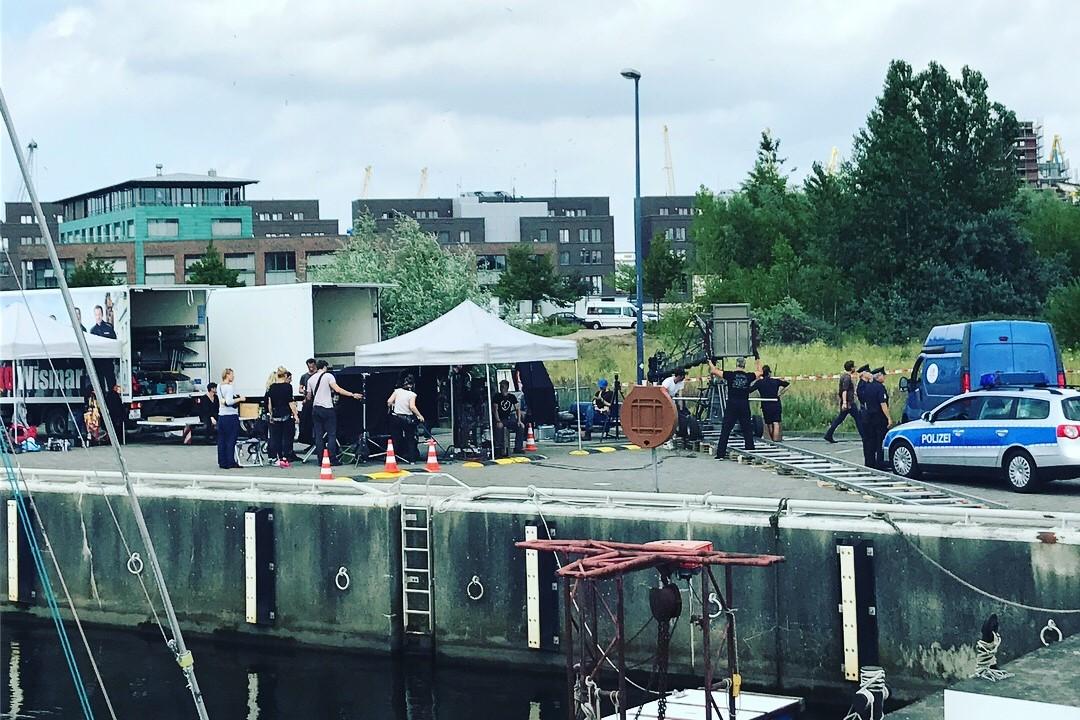 Soko Wismar_Dreharbeiten am Hafen