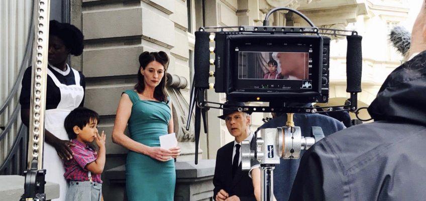 On set mit Camera Operator André Beckersjürgen