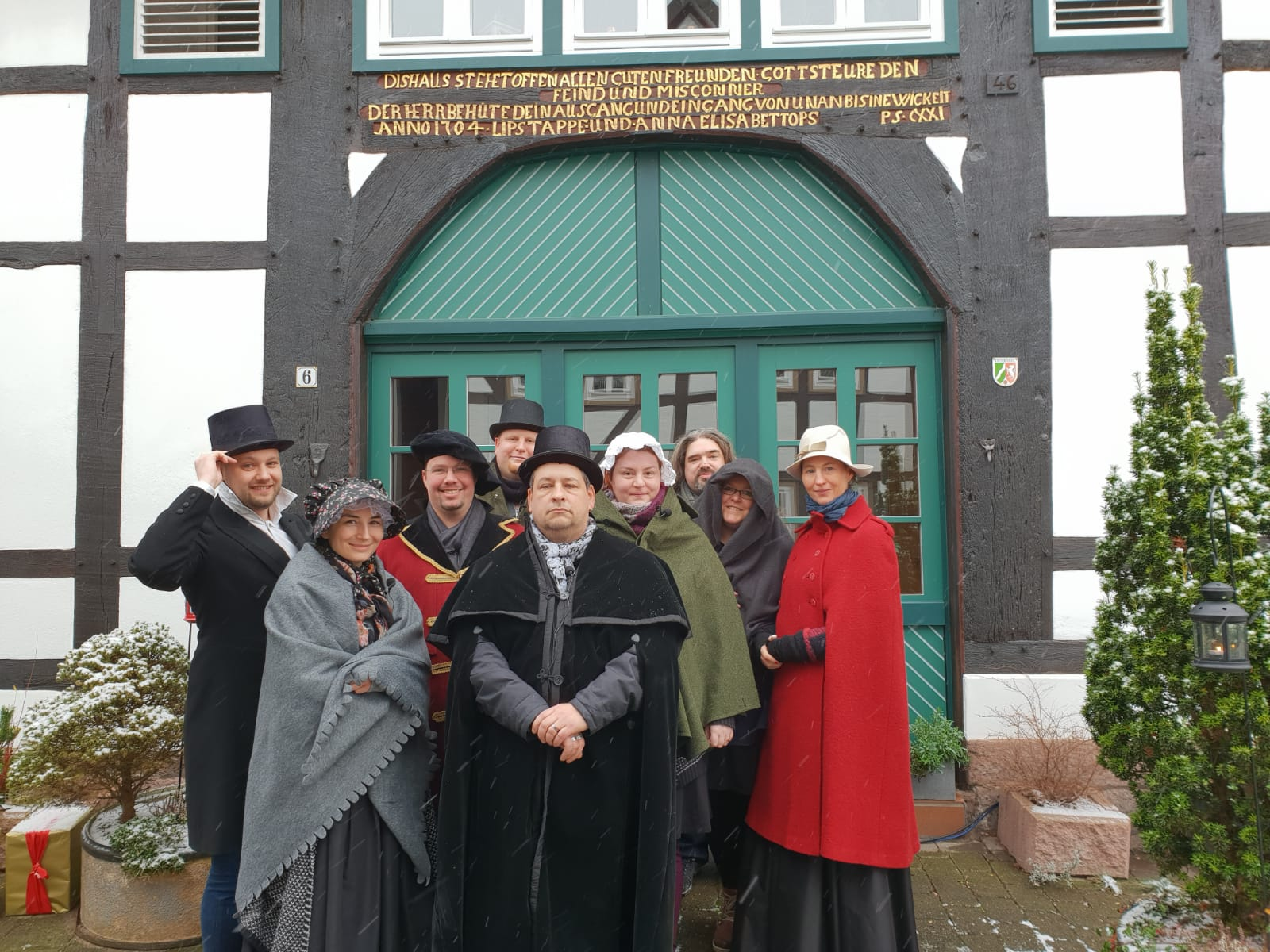 DreamTeamerLiveHörspieler in Blomberg beim Dickens Festival