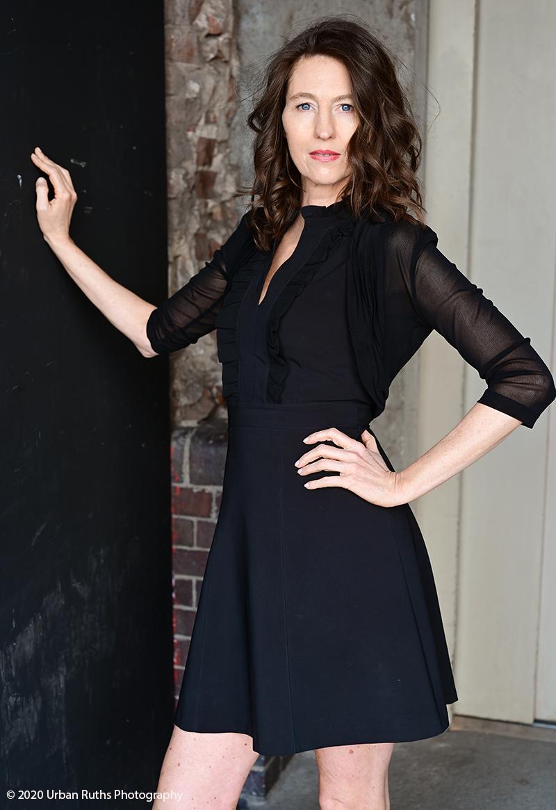 Corinna Bergmann in black